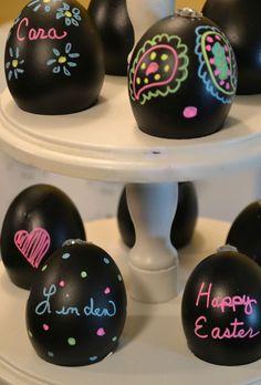 Black board eggs! Super cute!