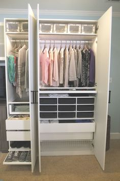 Whether you don't have enough closets  or need a better way of organizing the space you have, this customizable PAX wardrobe from IKEA could be the answer to your dreams.