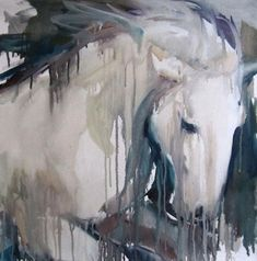 "Saatchi Art Artist Sylvia Baldeva; Painting, ""Galloping horse - oil on canvas"" #art"