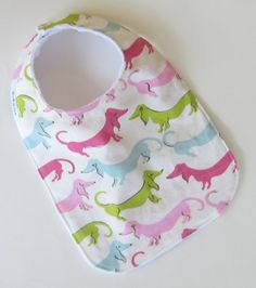 Minky Baby Bib, NEW MINKY Collection, HOTDOGS, Perfect for Twins