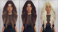 Ellie Simple: LeahLilith`s Dream hair retextured - Sims 4 Hairs - http://sims4hairs.com/ellie-simple-leahliliths-dream-hair-retextured/