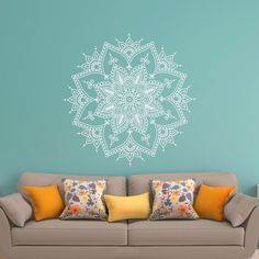 Mandala Wall Decal Mandala Decal Yoga Studio Decor by PonyDecal
