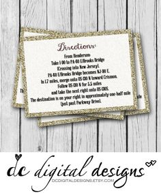 2x3.5 Card Any Wording Any Color Glitter by DCDigitalDesigns