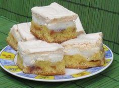 Prajitura cu piersici si bezea Panna Cotta, Cheesecake, Sweets, Fruit, Cooking, Desserts, Food, Pastries, Knits
