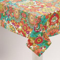 Love this print for the edging on our bedroom curtains. WorldMarket.com: Floral Bettina Tablecloth