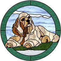 Adorable Cocker Spaniel pattern.