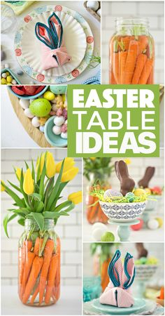No need to break your wallet for beautiful decor, impress your guests with these inexpensive and simple Easter table ideas! dinner table setting Simple Easter Table Ideas - Fork and Beans Easter Table Settings, Easter Table Decorations, Easter Decor, Easter Ideas, Easter Crafts, Easter Food, Easter With Kids, Easter Play, Easter Gifts For Kids