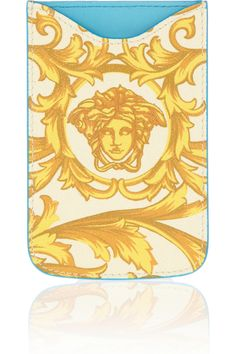 Marigold and cream printed textured-leather (Calf) Fully lined in blue leather Compatible with iPhone 4 and Designer Clothes Sale, Discount Designer Clothes, Iphone 4, Women's Accessories, Versace, Branding Design, Best Gifts, Texture, Prints