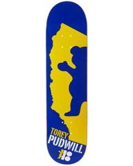 PLAN B PUDWILL GRIZZLY 8 DECK - BLUE YELLOW on http://www.surfstitch.com