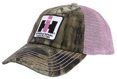 Case IH Women's Pink Mesh Camo Distressed Hat