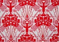 red oriental print