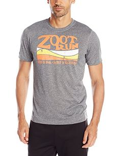 ZOOT SPORTS Mens Run Surfside Graphic Tee Large Black HeatherSolar Flare >>> Find out more about the great product at the image link.