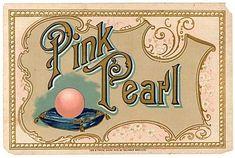 1890's Vintage Victorian embossed paper Pink Pearl label Oblinger Bros. Co.
