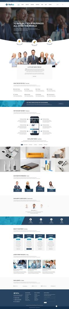 Reflex is a unique PSD template designed in #Photoshop with a modern look for #corporate #business #website. Download Now!