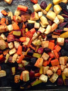 Roasted Root Vegetables | Live Better Forever: Better Recipes Roasted Root Vegetables, Sweet Potato, Good Food, Potatoes, Live, Cooking, Healthy, Recipes, Kitchen