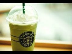 How to Make a Starbucks Green Tea Frappuccino - I reduce the matcha powder to 1/2 teaspoon, because it's a bit strong.