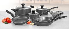 T-fal A821SA Initiatives Nonstick Inside and Out Dishwasher Safe Oven Safe Cookware Set, 10-Piece, Charcoal  T-fal A821SA Initiatives Nonstick Inside and Out Dishwasher Safe Oven Safe Cookware Set, 10-Piece, Charcoal T-fal A821SA94 Initiatives Nonstic  Inside and Out Dishwasher Safe 10-Piece Cookware Set, Gray  http://www.storekitchendining.com/t-fal-a821sa-initiatives-nonstick-inside-and-out-dishwasher-safe-oven-safe-cookware-set-10-piece-charcoal/