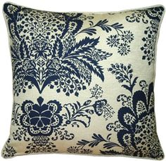 The Pillow Decor decorative throw pillow collection includes the Rustic Floral Blue Throw Pillow Floral Throws, Floral Throw Pillows, Blue Pillows, American Decor, Decoration, Dot And Bo, Flower Designs, Decorative Throw Pillows, Rustic Decor