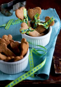 dog biscuit recipe- 2 3/4c Whole Wheat Flour  2 3/4c All-Purpose Flour  2T Brown Sugar  1t Sea Salt  3 eggs  1c Peanut Butter 1/3c Vegetable Oil 1c Water