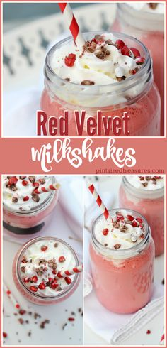 Red Velvet milkshakes combine your fave classic treat with your all favorite frozen one! Enjoy the party in your mouth! @alicanwrite
