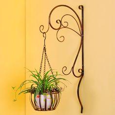 2014 de metal puesto de flores, soporte de hierro forjado, metal soporte de la planta para el hogar y jardín