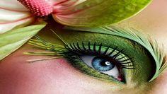 Green eye make up nature elements Free HD Wallpaper Beautiful Eye Makeup, Beautiful Eyes, Nice Makeup, Awesome Makeup, Beautiful Forest, My Beauty, Beauty Hacks, Beauty Solutions, Juice Beauty
