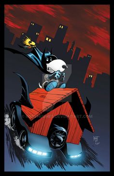 Bat-Snoopy Print Lines by Ken Hunt Colors by me All prints are $10 each (+ $4 shipping (1 or more)) More prints available here: rosshughes.deviantart.com/gall… Email me at: hughescolor...