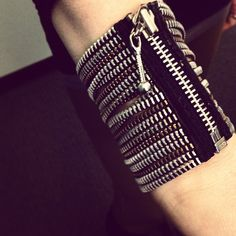 Someone got her @Sarah Racine zipper bracelet in the mail today! #eco #fashion #conscious