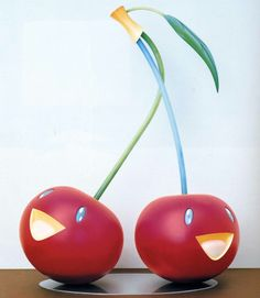 """Cherries"" 2005 FRP, Steel, Acrylic, Urethane 79 x 39 x 28 inches Superflat, Takashi Murakami, Artistic Installation, Kawaii, Designer Toys, Japanese Artists, Land Art, Contemporary Artists, Art Forms"
