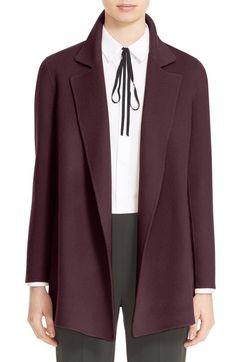 Nouveau Ex M/&S Autographe Open Front double face Cardigan avec laine gris et rose