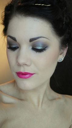 pretty, love the pink lip.