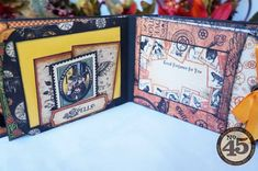 A peek inside Arlene's Steampunk Spells mini album! See more by clicking on the photo #graphic45 #scorpal