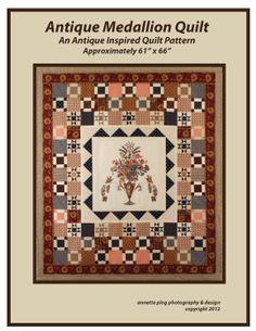 Antique Medallion Quilt Pattern. $9.00, via Etsy.  Believe I have the center medallion part.