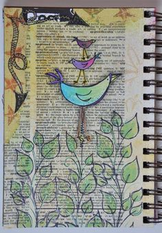 dictionary page, stamps, ink, voila!