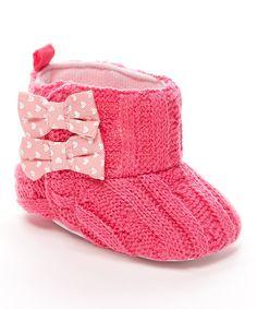 Fuchsia Knit Bootie #zulily #zulilyfinds