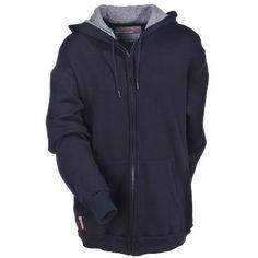 Benchmark FR Unisex FR 3025FR Navy Blue Hooded Sweatshirt