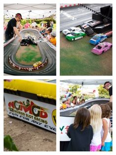 Hot Wheels Party for J's 6th Birthday!  Nomad (San Diego) provided slot racing for the kids.. a huge hit!