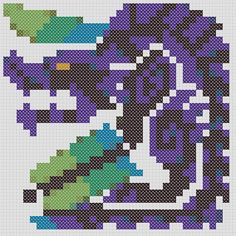 Brachydios Threat Level: ★★★★★ Brute wyverns coated with an explosive green substance, a material that is thought to be a unique slime mold that is primed to explode by an element in the monsters saliva. They are also capable of powerful foreleg strikes. ~*~*~*~ This is a Cross Stitch