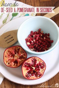 How to DeSeed A Pomegranate In Seconds | MyBlessedLife.net