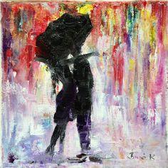 Rain Konrad Biro art oil stretched canvas