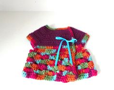 Adjustable baby crossover sweater dress size by ericalyndesigns