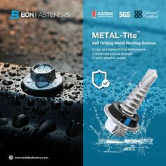 BDN Fasteners® offer a full range of Australian AS3566 Standard self-drilling and self-tapping screws for steel to steel and steel to timber applications in various coating options to cope with different environments. ☑ AS3566 Australian Standard ☑ 100% Weather Sealed ☑ Fast and Stable Drilling Performance - 👍 100% Made in Taiwa Steel Trusses, Roof Trusses, Roofing Screws, Roof Cladding, Thermal Expansion, Steel Sheet, Metal Roof, Fasteners