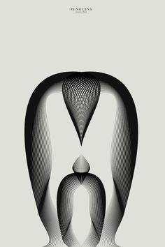 Animals Drawn with Moiré Patterns by Andrea Minini posters and prints pattern illustration animals Op Art, Pinguin Drawing, Colossal Art, Ouvrages D'art, Abstract Animals, Modern Shop, Art Mural, Pattern Illustration, Animal Drawings