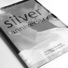 Magazine ontworpen voor het 25 jarig huwelijksfeest