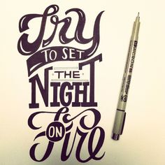hand lettering by Roxy Prima