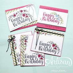 Holly's Hobbies: Create a collection of coordinating birthday cards with the Big on Birthdays set from @stampinup and this great color combo!