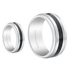 Men & Ladies 8MM/6MM Tungsten Carbide Wedding Band Ring Set With Black Carbon Fiber Inlay (Available Sizes 5-15 Including Half Sizes) Tungsten Ring Set http://www.amazon.com/dp/B00B2BVLSQ/ref=cm_sw_r_pi_dp_N3rzwb1CRH49E