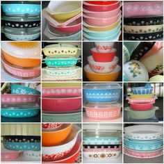 pyrex collections. I will have a pyrex collection some day.