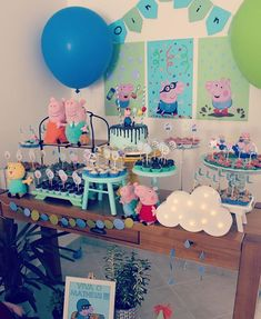George Pig Party, Third Birthday, Party Time, Birthday Parties, Baby Shower, Recipes, Kids, Ideas Aniversario, 3 Year Olds