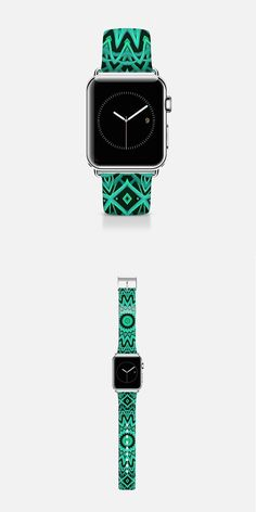Mint Mandala - 42mm Apple Watch band design by Lyle Hatch, available at my Casetify shop.
